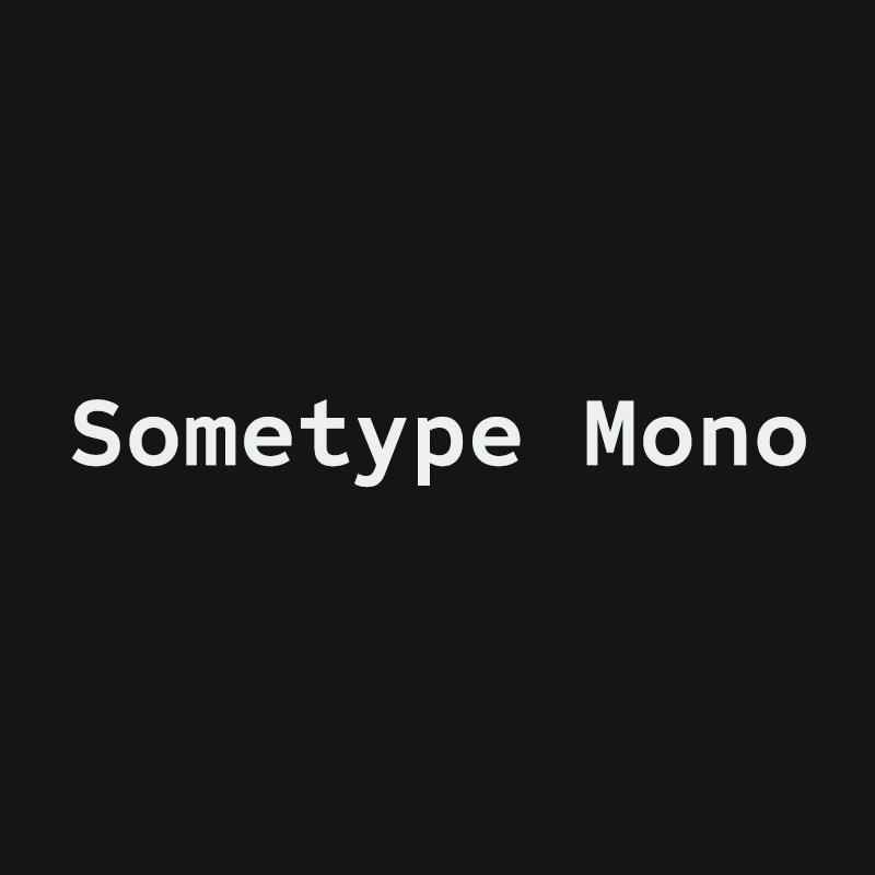 Sometype Mono | Dharma Type